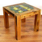 Java Couchtisch | Recyceltes buntes Bootsholz | Asiatischer Wohnzimmertisch | Designer Möbel aus Bootsholz | Massivholztisch der Marke Asia Wohnstudio | Kaffeetisch aus Bootsholz | Beistelltisch