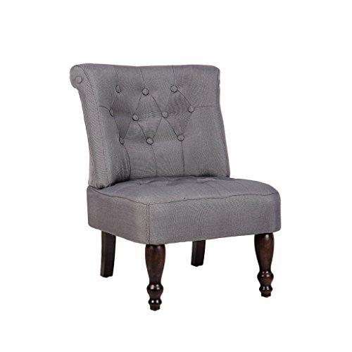 vidaXL Sessel grau gefasstener gemütlicher Sessel französischen Stil 240287