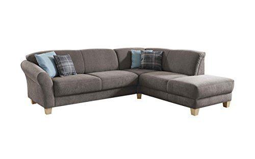 CAVADORE Ecksofa Gootlaand mit Ottomane rechts / Große Couch im Landhausstil / Inkl. Vorziehfunktion und Bettkasten…