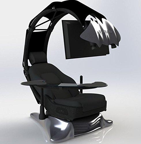Drian Workstation Game-Sitze IT und Furniture Converged Gaming-Sitze für Büro, zu Hause und zum Gaming (Reinweiß) für Single Monitor und linkstürige Richtung