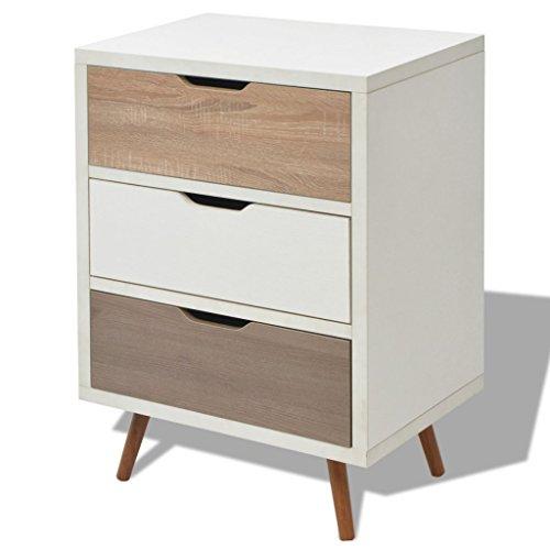 Festnight Kommode Sideboard mit 3 Schubladen als Seitenschrank Beistelltisch Telefontisch 60 x 39 x 83 cm