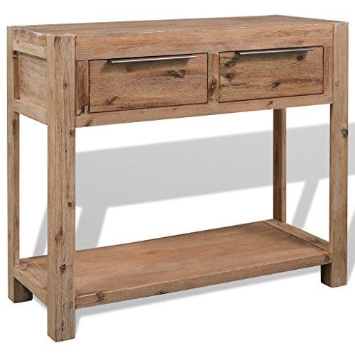 Festnight Konsolentisch Beistelltisch Tischkonsole Massives Akazienholz 73 x 33 x 83 cm