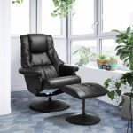 Sessel Relax Freizeit Chefsessel Bürostuhl, neigbar mit Fußstütze aus PU Leder Nachhaltige