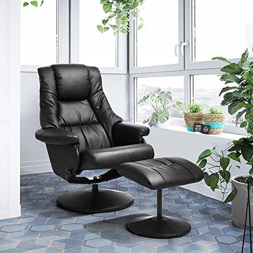 LeMonde Sessel Relax Freizeit Chefsessel Bürostuhl, neigbar mit Fußstütze aus PU Leder Nachhaltige