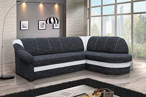 Sofa Couchgarnitur Couch Sofagarnitur BENANO Polstergarnitur Polsterecke Wohnlandschaft mit Schlaffunktion und Bettkasten, Ferderkern inside. (B 02 Berlin 02/ Berlin 10 rechts)