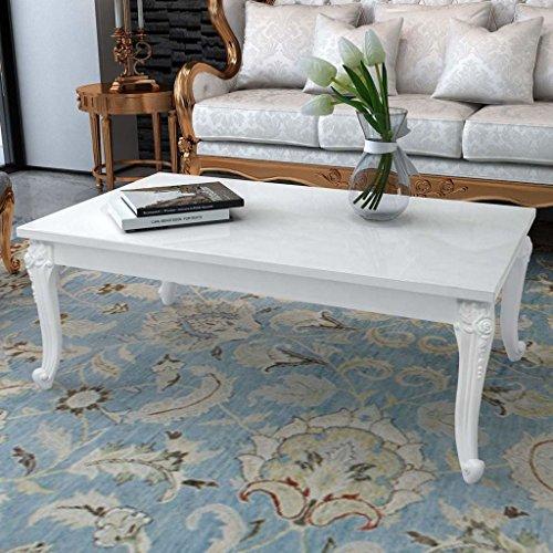 vidaXL Hochglanz Couchtisch Beistelltisch Kaffeetisch Wohnzimmer 120x70x42 cm