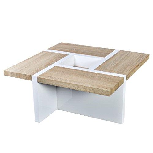 vidaXL Hochglanz Wohnzimmertisch Couchtisch Beistelltisch Kaffeetisch Tisch MDF