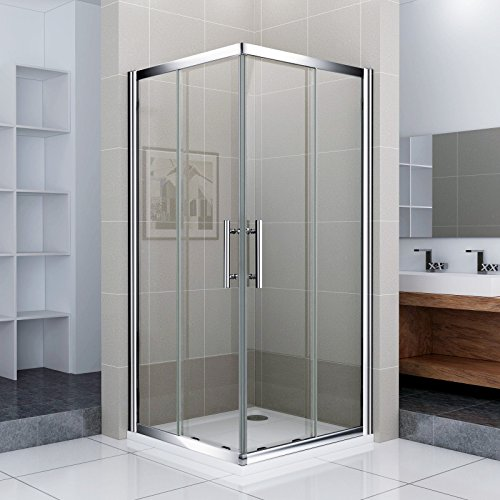 100x90x185cm Duschkabine Duschabtrennung Eckeinstieg Schiebetür Dusche Duschwand NS10