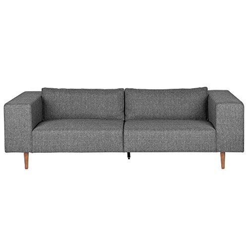 3 Sitzer Sofa BJORK Clubsofa Wohnzimmer Couch Polstersofa Longesofa Sitzmöbel (grau)