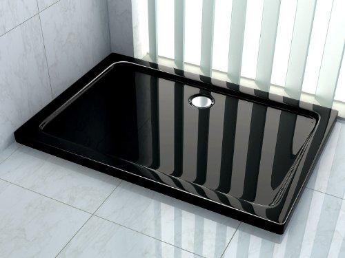 50 mm Duschtasse 120 x 80 cm (schwarz)