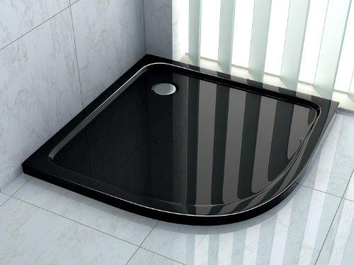 Duschtasse 90 x 90 cm (Viertelkreis) (schwarz)