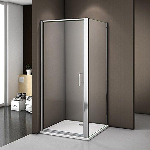 80x80x185cm Duschabtrennung Duschkabine Drehtür Dusche Duschwand 6mm NANO Echtglas