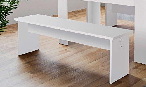 AVANTI TRENDSTORE - Munich - Set mit 2 Bänken in weiß Dekor, BHT ca. 120x45x37 cm