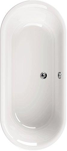 Acryl-Duobadewanne Ovo Solo | Große Badewanne | Freistehend | 180 x 80 cm | Weiß | Wanne | Badewanne | Bad | Badezimmer | Acryl   Komfort
