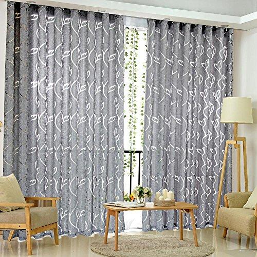 Amazingdeal365 Schal Vorhang Flugfensterdeko Voile Gardinen Schal 2m *1 m Set für Tür Schlafzimmer Wohnzimmer…