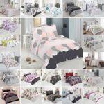 Bettwäsche Deluxe 2 Teilig aus 100% Baumwolle Renforce mit Reißverschluss Bettwäscheset 1 Bettbezug und 1 Kissenbezug deutsche Standardgröße, Größe 135x200 cm, Farbe Muster