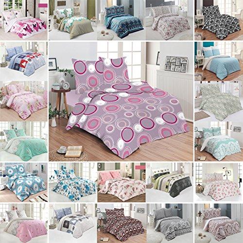 Bettwäsche Deluxe 3 Teilig aus 100% Baumwolle Renforce mit Reißverschluss Bettwäscheset 1 Bettbezug und 2 Kissenbezüge Komfortgröße, Größe 200x220 cm, Farbe Muster