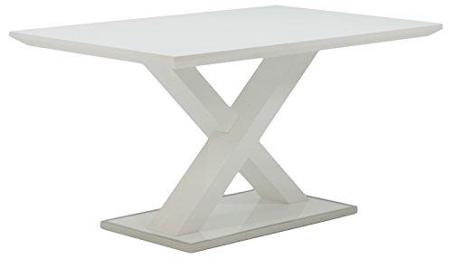 HOMEXPERTS, Esstisch XAVER, Moderner Esstisch 120 cm, Esszimmertisch in modernem Design mit gekreuzten Beinen, Tisch in…