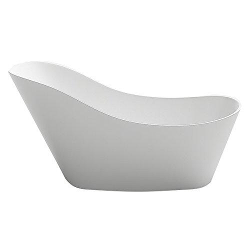 Design Badewanne freistehend Chur II in weiss Bad Badausstattung vom Fachmann