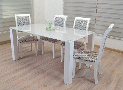 Designer Tisch Esstisch Stubentisch Küchentisch Glastisch Glasplatte Hochglanz