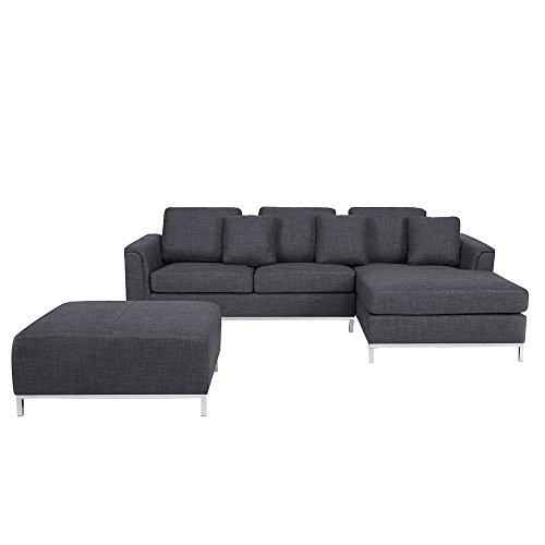 Designersofa - Polstersofa - Sofa - Couch - Ecksofa L - Eckcouch, grau - OSLO