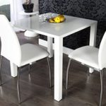 DuNord Design Esstisch weiss hochglanz modern Bistrotisch BLANCHE 80cm Design Highgloss Möbel Tisch
