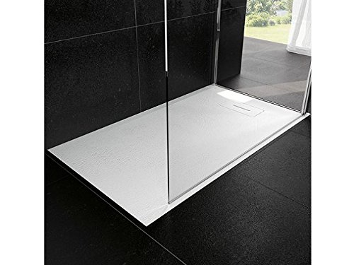 Duschtasse Du novosolid Größe Dicke 3,5cm Weiß Kunstharz Badezimmer Wasser Bauform Unterstützung Draht Flur Fachhändler Haus zuschneidbar 90x160 Schwarz