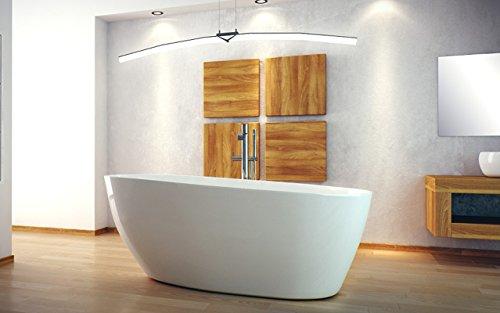 EXCLUSIVE LINE Freistehende Badewanne GOYA XS 142x62 cm, Weiß Ovale Standbadewanne Mineralguss Weiß