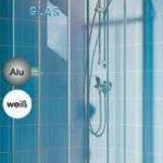 Eckeinstieg Duschkabine Echtglas Sicherheitsglas Silberne Profile Links 73 bis 88 und Rechts 68 bis 83cm Sondermass