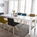 FineBuy Esszimmertisch Gloss Ausziehbar 140-230 cm Esstisch Hochglanz Weiß | Esstisch für 6-10 Personen | Design Küchentisch Rechteckig Tisch