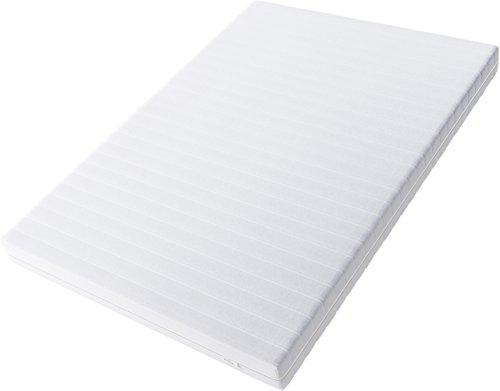 Hilding Sweden Essentials Schaumstoffmatratze in Weiß, 200 x 90 x 16 cm, Mittelfeste Matratze mit orthopädischem 7-Zonen…