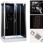 Home Deluxe - Duschkabine mit Schiebetür - Wave L- Maße: 100 x 80 x 227 cm - inkl. komplettem Zubehör - Verschiedene Größen
