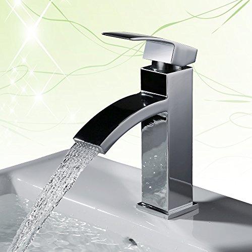 Homelody Wasserhahn Bad Badarmatur Waschtischarmatur Armatur Waschbeckenarmatur Einhebelmischer Mischbatterie…