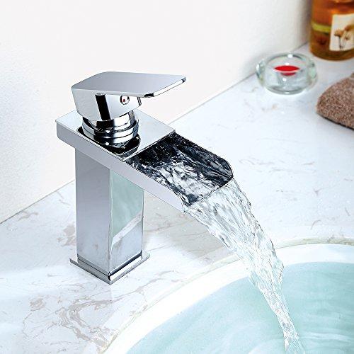 Homelody Wasserhahn Bad Wasserfall Wascbecken Armatur Badarmatur Mischbatterie Waschtischarmatur Waschbeckenarmatur…
