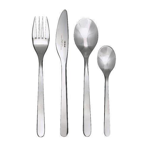 IKEA 5054809789449 Förnuft Besteck, Edelstahl, Silber, 22 x 14 x 4 cm, 24 Einheiten