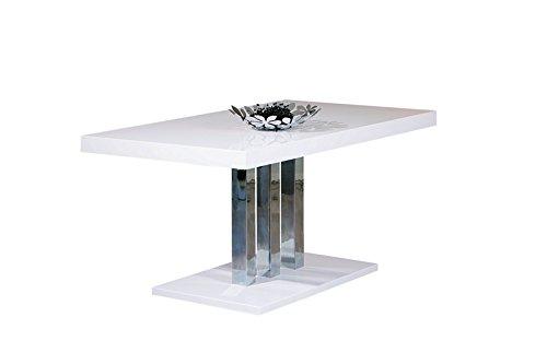 Inter Link 20801170 Esstisch Küchentisch Esszimmertisch Tisch weiß hochglanz Design modern 160x90 cm