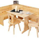 Inter Link Eckbank Gruppe Tisch Stühle Kücheneckbank Sitzbank Esszimmer Kiefer Massivholz Natur lackiert