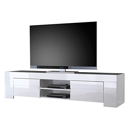 LC spa TV Schrank Eos gross mit 2 Türen, 190 x 45 x 50 cm, weiß hochglanz