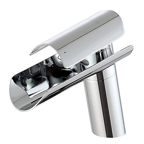 MICOE Waschtischarmatur Wasserfall Badarmaturen Edelstahl Moderner Wasserhahn Bad Waschbecken Armatur Badezimmer…