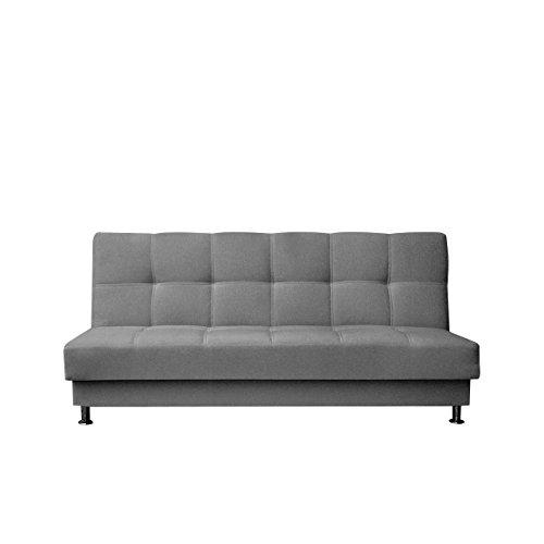 Mirjan24  Schlafsofa Enduro III mit Bettkasten, 3 Sitzer Sofa, Couch mit Schlaffunktion und Bettfunktion, Bettsofa Schlafsofa Polstersofa Wohnlandschaft (Baku 04)