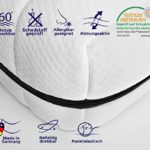 Mister Sandman 7-Zonen Kaltschaummatratze mit Premium Doppeltuchbezug, Polyester, H1&H2, 120200 cm