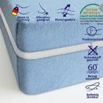 Mister Sandman Matratze mit Komfortschaum-Kern, Rollmatratze Made in Germany, Bezug Waschbar bis 60 Grad, Öko-Tex® Zertifiziert, Härtegrad (90 x 200 cm)
