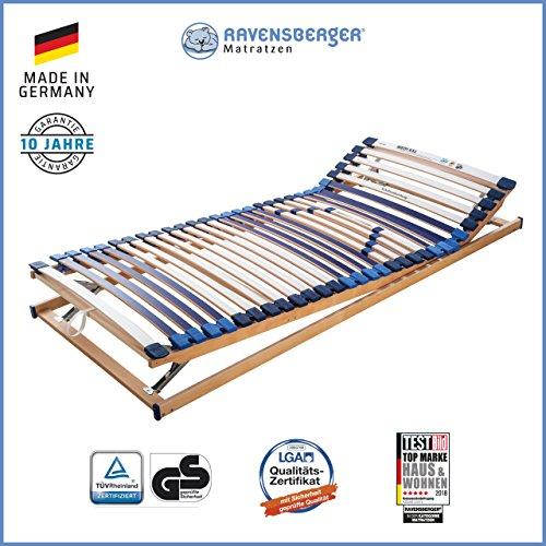 RAVENSBERGER MATRATZEN Lattenrost Spezial (Medi XXL) VARIABEL 5-Zonen-30-Leisten-BUCHE- Schwergewichtsrahmen…