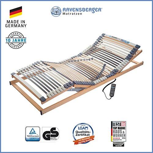 Ravensberger Matratzen Medimed® Lattenrost | 7-Zonen-Buche-Lattenrahmen | 44 Leisten| elektrisch| MADE IN GERMANY - 10 JAHRE GARANTIE | TÜV/GS 100x200 cm