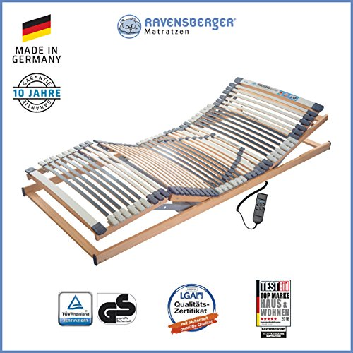 RAVENSBERGER Lattenrost Klassik (Medimed) de Luxe Elektrorahmen 44-Leisten 7-Zonen-BUCHE-Lattenrahmen | Elektrisch…