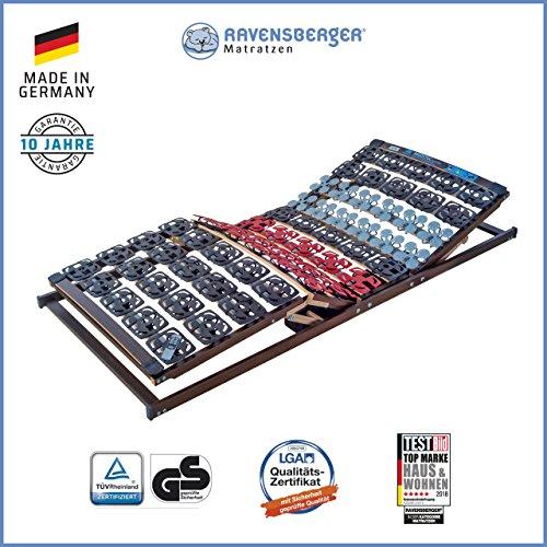 Ravensberger Matratzen Meditec® Lattenrost | 5-Zonen-TPEE-Teller-Systemrahmen | Schichtholzrahmen| Elektrisch| MADE IN GERMANY - 10 JAHRE GARANTIE | TÜV/GS 80 x 200 cm