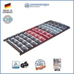 Ravensberger Matratzen Meditec® Lattenrost | 5-Zonen-TPEE-Teller-Systemrahmen | Schichtholzrahmen| Starr| MADE IN GERMANY - 10 JAHRE GARANTIE | TÜV/GS 100 x 200 cm