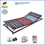 Ravensberger Matratzen Meditec® Lattenrost | 5-Zonen-TPEE-Teller-Systemrahmen | Schichtholzrahmen| verstellbar| MADE IN GERMANY - 10 JAHRE GARANTIE | TÜV/GS 100 x 200 cm
