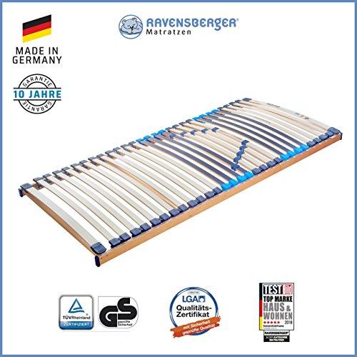 RAVENSBERGER MEDITOP 30-Leisten-Buche-Lattenrahmen | 5-Zonen-Buche-Lattenrahmen | Starr | Made IN Germany - 10 Jahre…