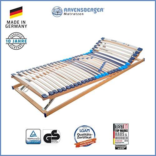 RAVENSBERGER Lattenrost Basis (Meditop) VARIABEL 30-Leisten-Buche-Lattenrahmen | 5-Zonen-Buche-Lattenrahmen…